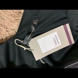 Black leather Zara dress one sleeve